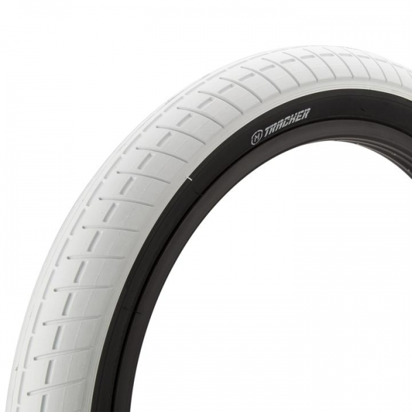 Mission Tracker 2.4 white with back wall BMX tire
